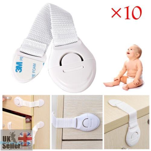 10 piezas Caja de seguridad cajón gabinete seguro niño del protección niños bebé