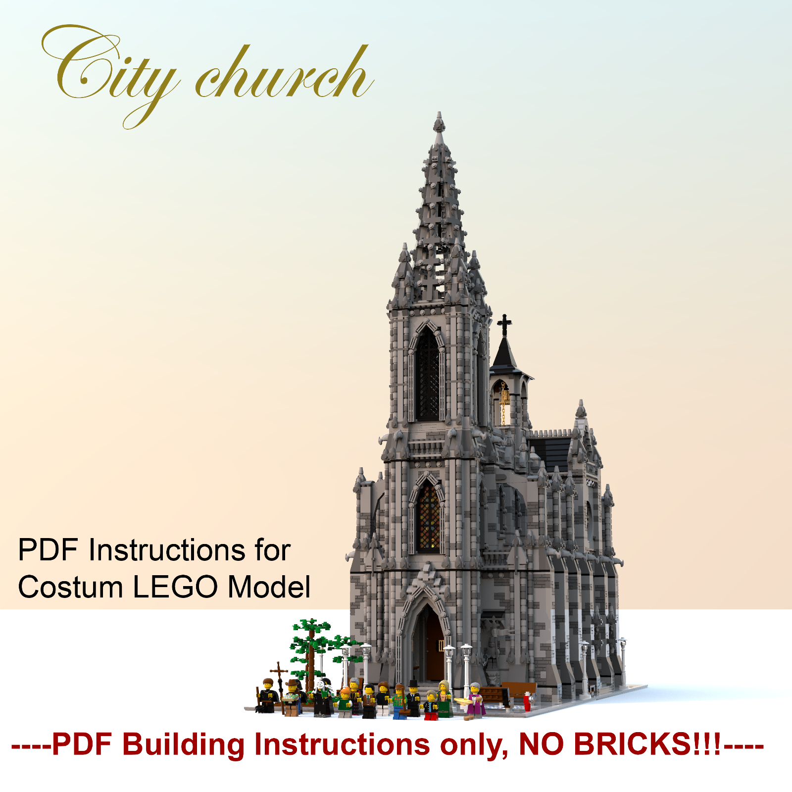 MOC Church  Cathedral- costum LEGO building Instructions- PDF files only  | Sofortige Lieferung