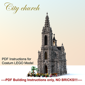 Brillant Moc Church/cathedral-costum Lego Building Instructions-pdf Files Only!-afficher Le Titre D'origine
