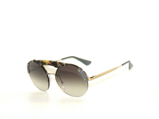 265a0e5f9a85 Prada 52U 52 SZ6-0A7 Pale Gold Havana Green Gray Gradient Sunglasses Sale