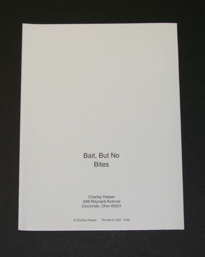 "Charles//Charley Harper Notecards /""Bait But No Bites/"" 4 Pack w//Envelopes"