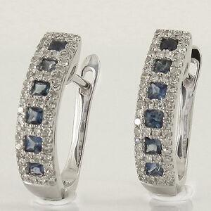 Huebsche-Ohrringe-585-Weissgold-mit-12-Saphir-Edelsteinen-und-104-Diamanten-NEU