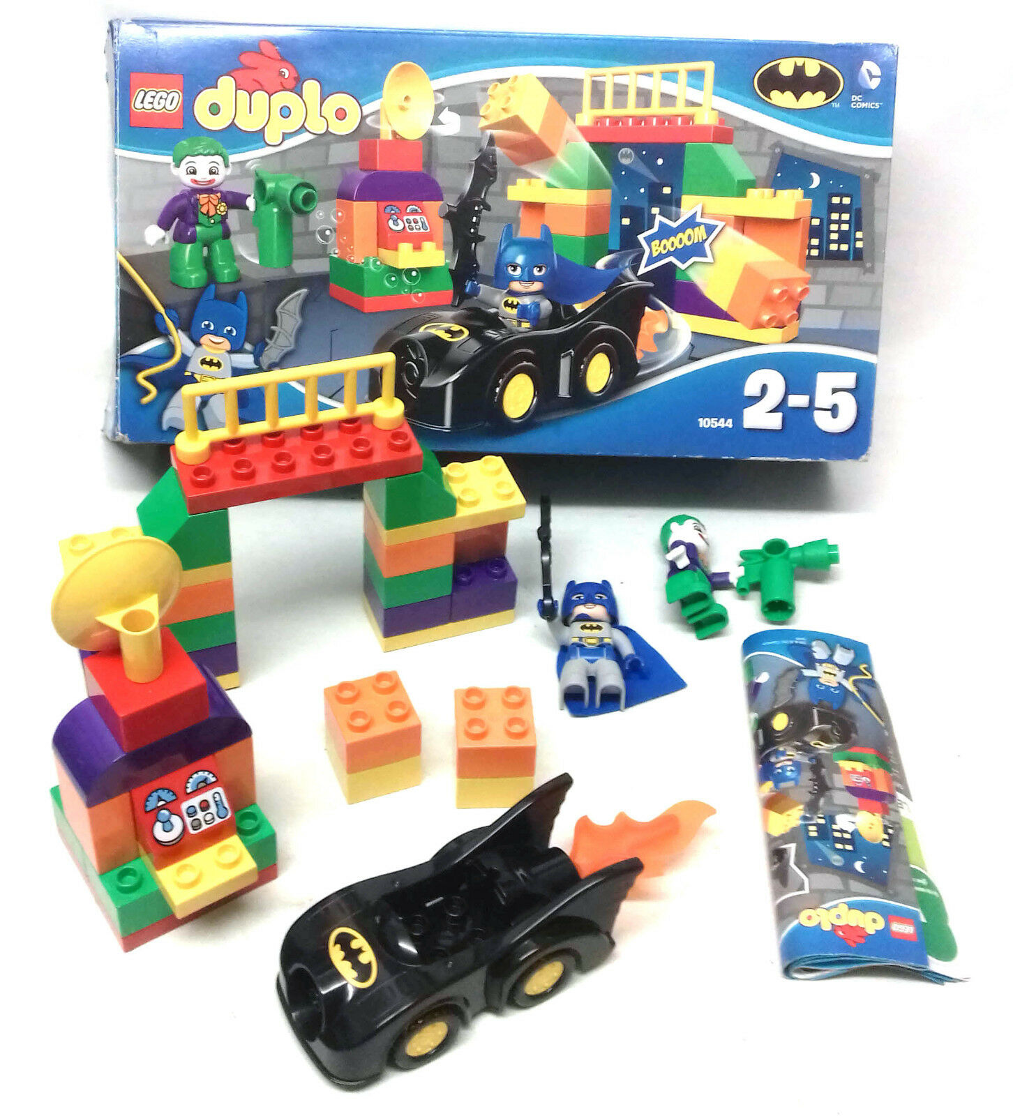LEGO Duplo Toys set 10554 Batman Joker figures Batcar Batcar Batcar etc with box ages 2-5 aba633