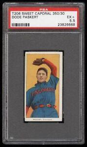 Rare-1909-11-T206-Dode-Paskert-Sweet-Caporal-350-Cincinnati-PSA-5-5-EX
