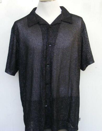 Disco Dancing Club Shirt XL '70s Flashy Metallic S