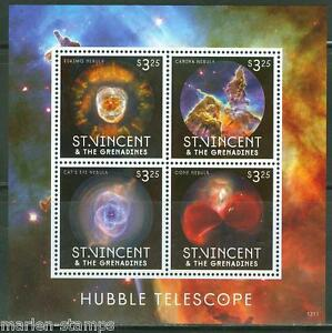 ST-VINCENT-2013-HUBBLE-TELESCOPE-SHEET-I-MINT-NH