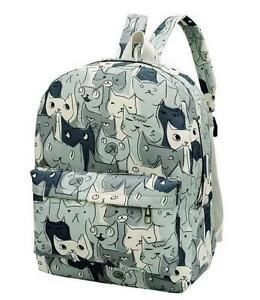 Japanese Game Neko Atsume ねこあつめ Cute Cat School Bag Shoulder ... 54e490d607508