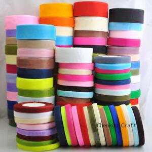 Lots-Upick-50Yard-roll-Mix-Color-Size-Organza-Ribbon-DIY-Craft-Wedding-S001-S165