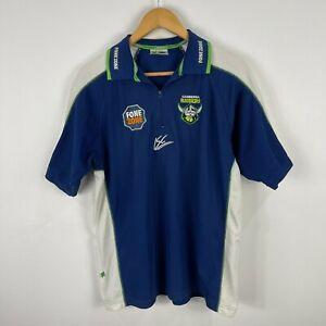 Canberra-Raiders-Rugby-Polo-Shirt-Mens-Size-Medium-ISC-Retro-Short-Sleeve