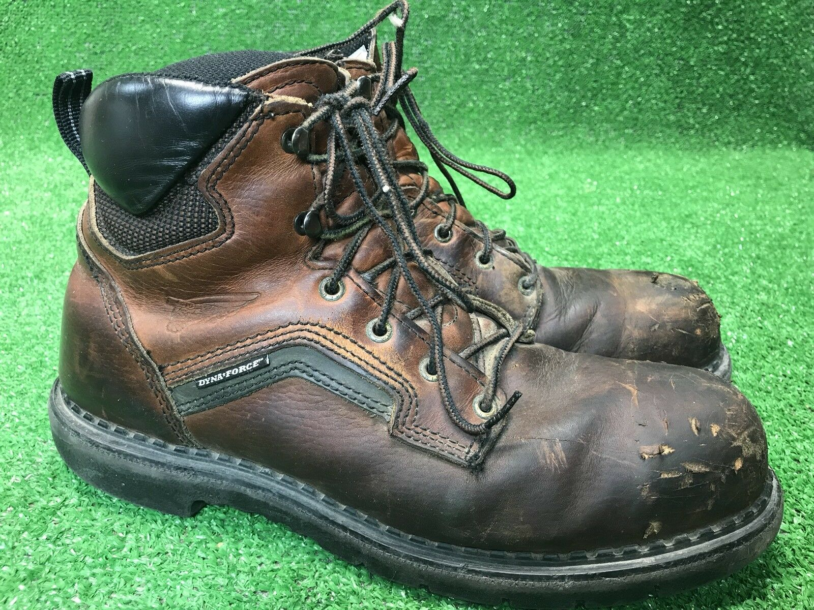 Red Wing Men's 2226 Brown Leather Work Boots Size 12 D Made In USA Steel Toe