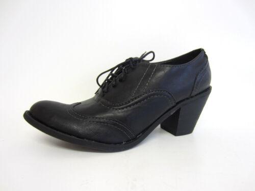 Barricci F9R395 Ladies Black PU Lace Up Shoes R8A