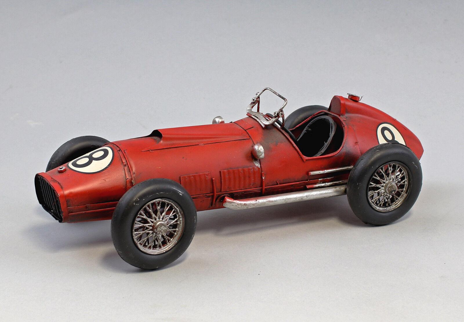 9973025 Nostalgic Model Car Classic Car Cabriolet Red Race Car 33x12x10cm