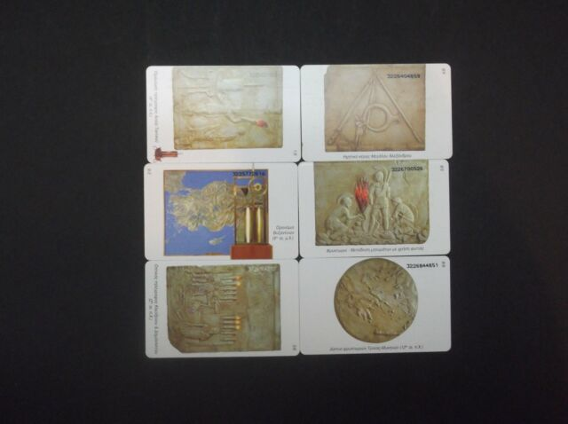 GREECE 6/02 Museum telephone OTE 1/6-6/6 COMPLETE SET GREECE GRECIA GRIECHENLAND