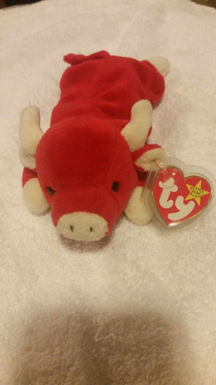 NEW SNORT (THE BULL) 1995 TY BEANIE BABY W P.E. PELLETS & FACTORY TAG ERRORS