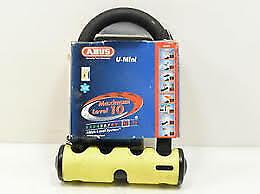 ABUS 40//130HB140 U Mini Lock with 4 keys RED//YELLOW