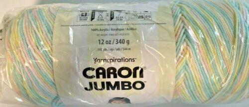12 Ounces Baby Rainbow Size 4 Medium Worsted Yarn Yarnspirations Caron Jumbo