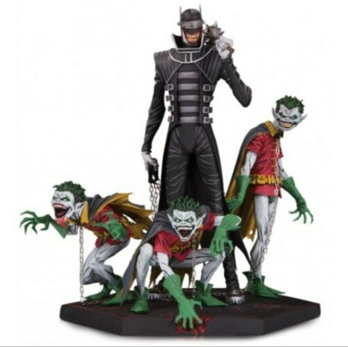 DARK NIGHTS METAL DC COMICS BATMAN WHO RIDES AND ROBIN STATUE IN STOCK
