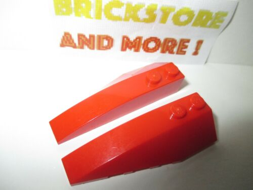 Lego 2x Wedge Aile 2x6 6x2 41747 41748 Left /& Right Red//Rouge//Rot