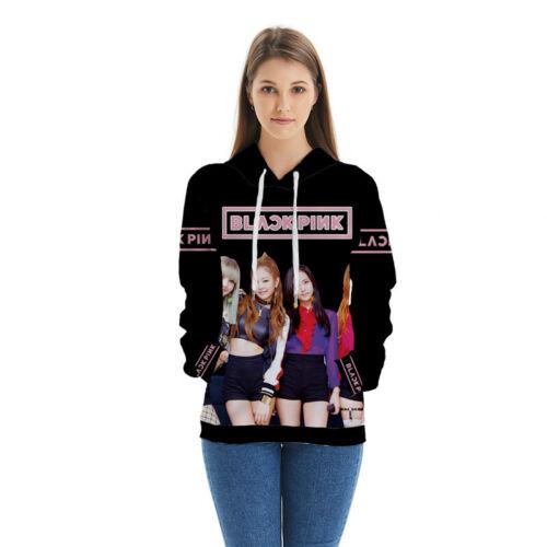 KPOP BLACKPINK 3D Print Hoodie Sweatshirt Korean Idol Pullover Casual Activewear