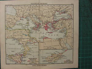 1897 antique map cyprus italy mediterranean greece sicily ebay image is loading 1897 antique map cyprus italy mediterranean greece sicily gumiabroncs Images