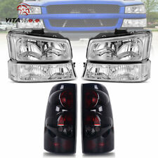 Yitamotor For 2003 2006 Chevy Silverado Headlights Tail Light Brake Rear Lamps Fits More Than One Vehicle