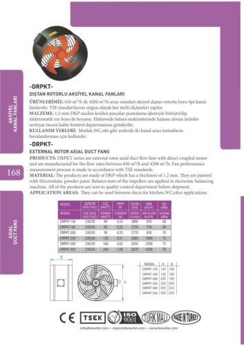 Radial Rohrventilator 150 160 200 250 300 350 400 Zuluft  Rohrlüfter mit Regler
