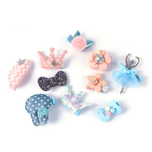 5-Pcs-Kids-Hairpins-Fabric-Barrettes-Baby-Bow-Flower-Headwear-Hair-Clips