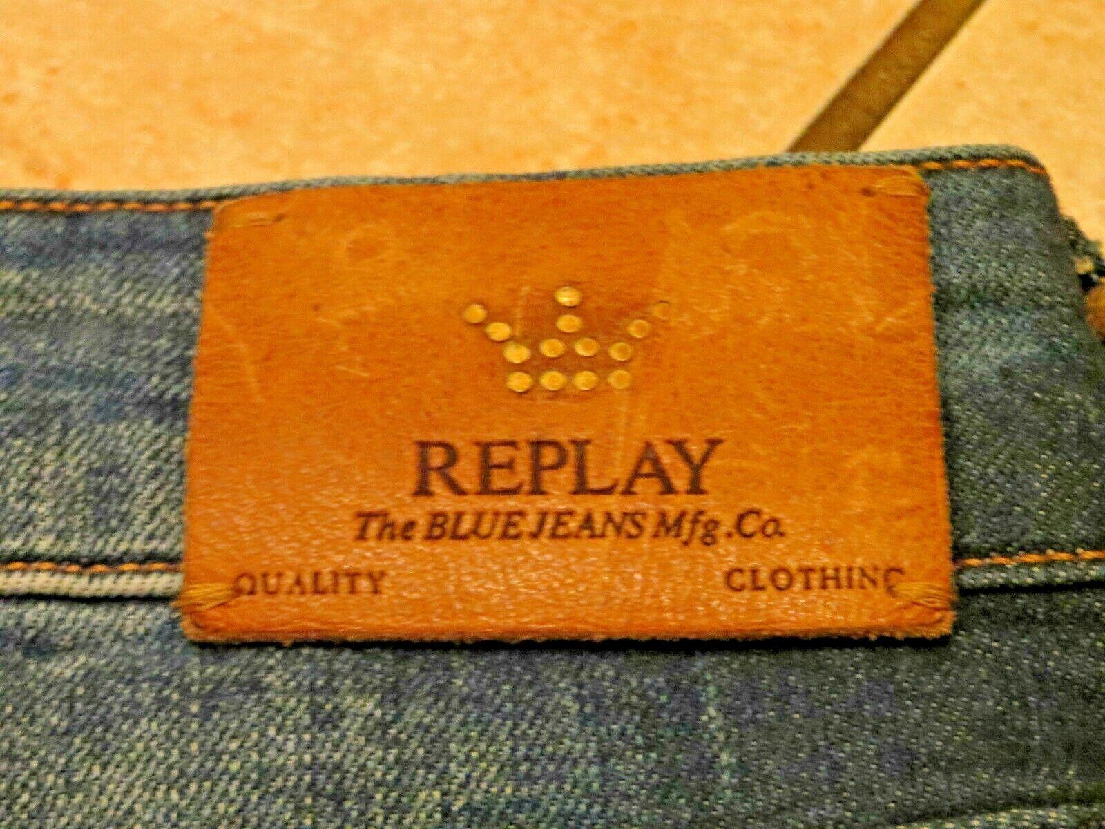 Replay Skinny Damen Jeans Denim Hose Gr 28 30 Neu mit Etikett