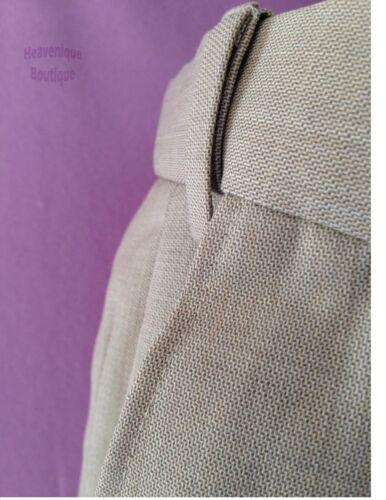 pierre 39,50 rrp £ Ex magasin unique devant plissé mélange laine coupe régulière pantalon