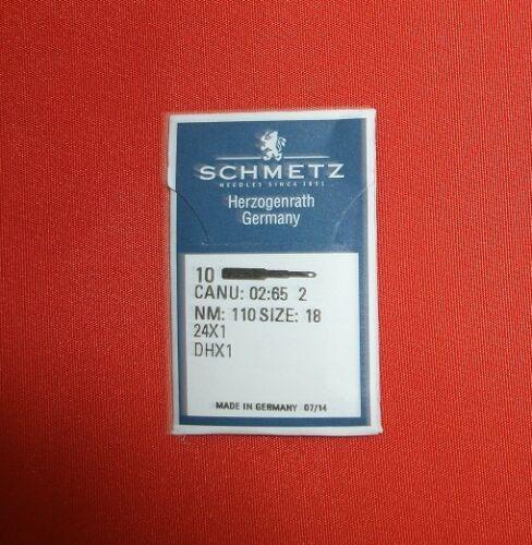 Schmetz-Flachkolbennadel System 24X1 Nm110