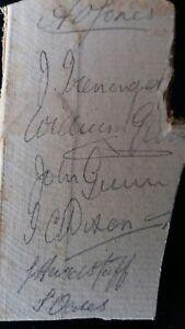 NOTTINGHAMSHIRE circa 1900 in pencil  on board  A O JONES captW GUNNJ GUNN - Romford, United Kingdom - NOTTINGHAMSHIRE circa 1900 in pencil  on board  A O JONES captW GUNNJ GUNN - Romford, United Kingdom