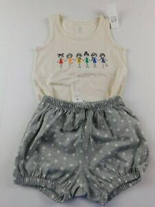 NWT-Gap-Toddler-Girl-039-s-2Pc-Outfit-Be-Kind-Tank-Top-Bubble-Shorts-4Yr-New-MSRP-30