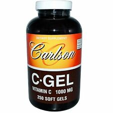 Carlson Labs, C•Gel, Vitamin C, 1000 mg, 250 Soft Gels