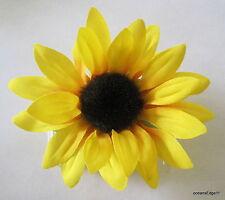 "3.5"" Yellow,Orange Sunflower Silk Flower Hair Comb,Pin Up,Updo,Rockabilly"