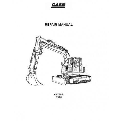 CX80 Crawler Excavator Service Manual Case CX75SR