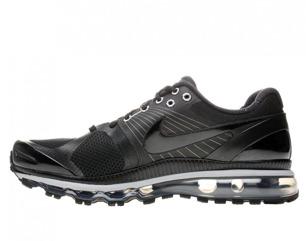 Men's Nike Air Max 2010 Running Sneakers New, Black Grey 386368-006 SKU AA
