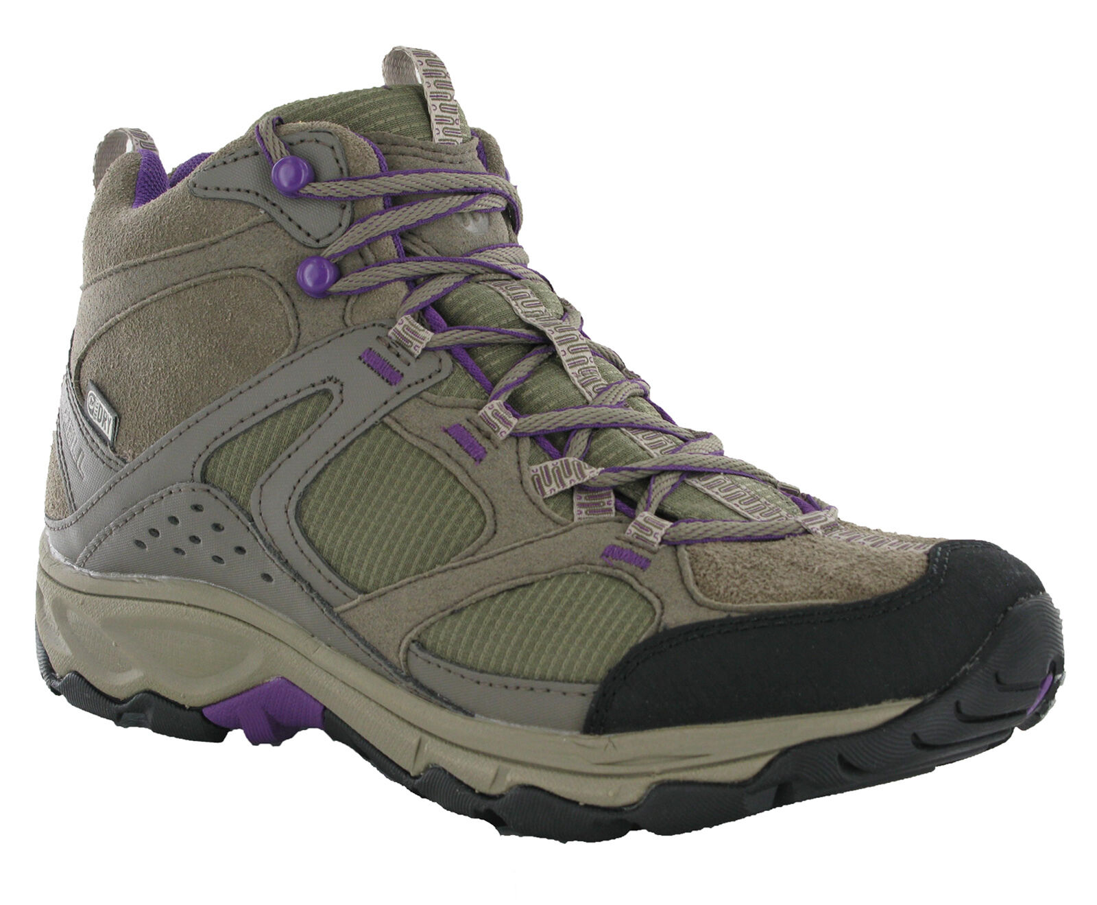 Merell Daria Mid Waterproof Boulder Leather Lace Select Dry Cushioned Boot