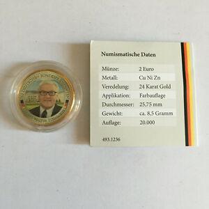 2-EURO-Sondermuenze-Frank-Walter-Steinmeier-coloriert-24ct-vergoldet