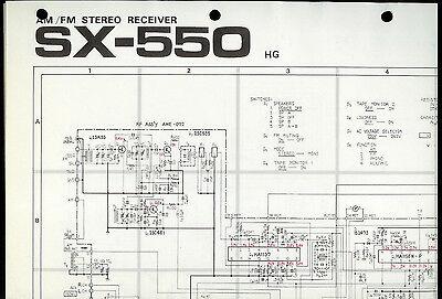 PIONEER SX-550 Original Schaltplan//Circuit Diagram!