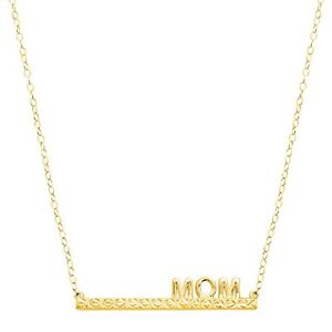 Eternity-Gold-039-Mom-039-Bar-Necklace-in-10K-Gold