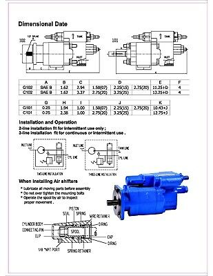 "G102-RMS-20  Hydraulic Dump Pump Direct Mount CW CW rotation Manual 2/"" gear"