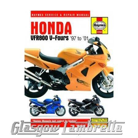 Haynes Service & Repair Manual 3703 HONDA VFR800 V-Fours (1997-2001) + stickers