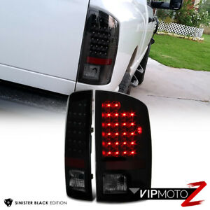 SINISTER-BLACK-2002-2006-Dodge-Ram-1500-2500-3500-Smoke-LED-Tail-Light-Lamp