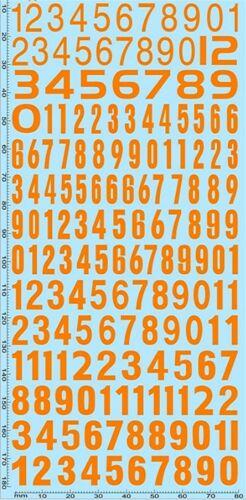 Los números de inicio cifras Naranja inicio numbers naranja 10,1-10,5 mm 1:18 decal cápsula