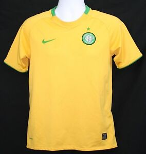 buy popular 49030 cd1d0 Details about Nike Fit The Celtic Football Club Jersey Shirt Gold Green  Trim Youth XL
