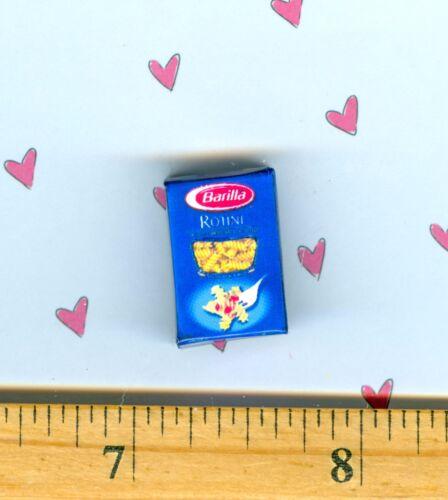 DOLLHOUSE Miniatures  Size Noodle Pasta Rotini Box