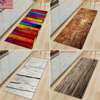 Wood Grain Floor Mat Kitchen Room Non Slip Pad For Door Entrance Decor  Carpet | eBay