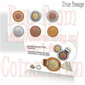 2021 Royal Canadian Mint R&D Security Test 6-Token Set Behind the Scenes Canada