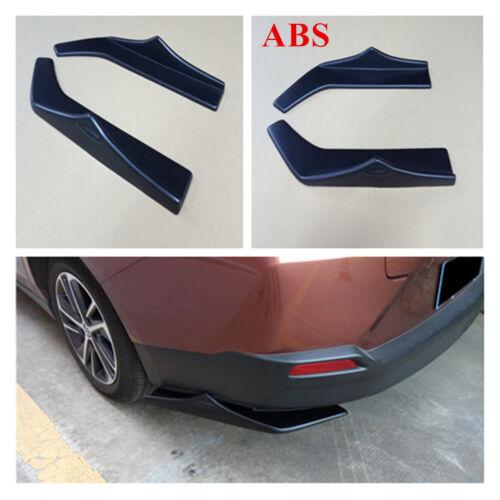 2PCS Black SUV Car wrap angle Shovel rear Bumper Spoiler Canard Diffuser