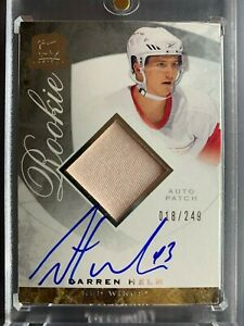 08-09-UD-The-Cup-DARREN-HELM-RC-Auto-Patch-Rookie-018-249-Detroit-Red-Wings